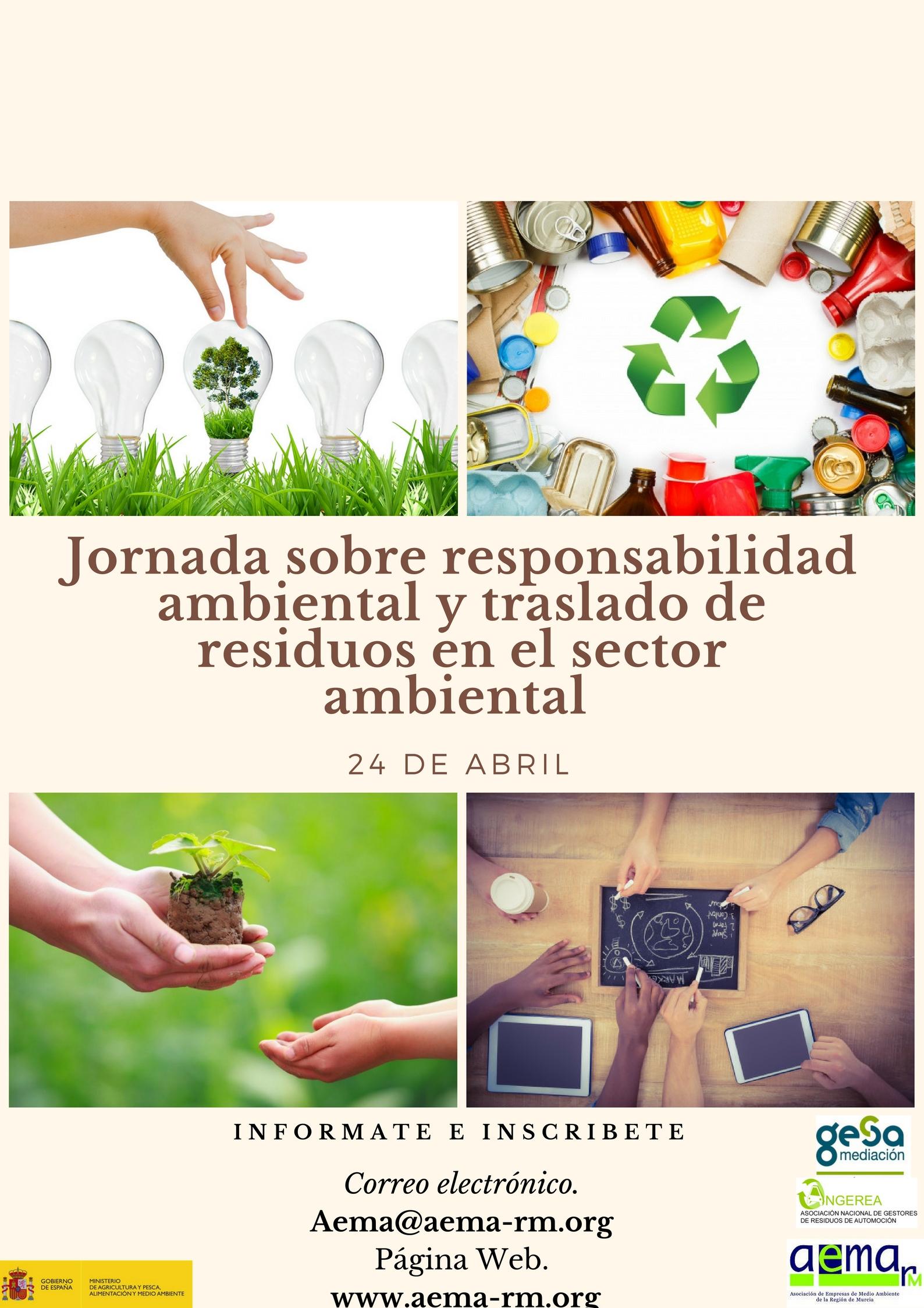 AEMA celebra el 24 de Abril una Jornada sobre TRASLADO de Residuos y Responsabilidad ambiental.